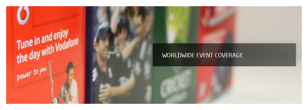 Worldwide event coverage